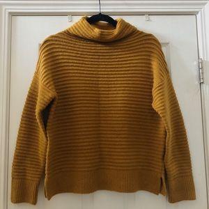 Madewell Mustard Mock Neck Sweater